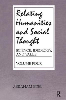 Relating Humanities and Social Thought (Paperback)