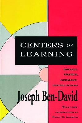 Centers of Learning: Britain, France, Germany, United States (Hardback)