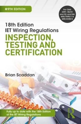 Fabulous Iet Wiring Regulations Inspection Testing And Certification 9Th Wiring 101 Ziduromitwellnesstrialsorg