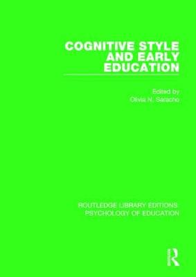Cognitive Style in Early Education - Routledge Library Editions: Psychology of Education (Hardback)