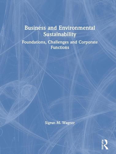Business and Environmental Sustainability: Foundations, Challenges and Corporate Functions (Hardback)