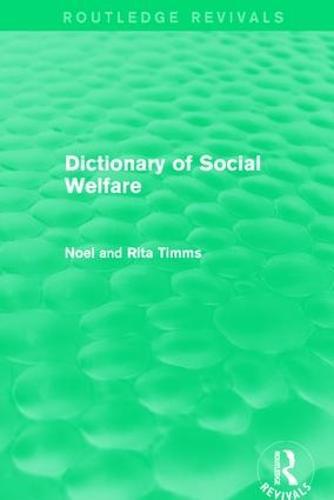 Dictionary of Social Welfare (Hardback)