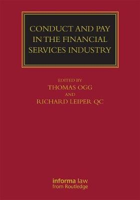 Conduct and Pay in the Financial Services Industry: The regulation of individuals - Lloyd's Commercial Law Library (Hardback)