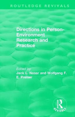 Directions in Person-Environment Research and Practice - Routledge Revivals (Paperback)