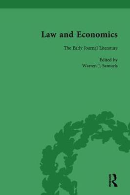 Law and Economics Vol 1: The Early Journal Literature (Hardback)