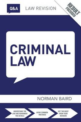 Q&A Criminal Law - Questions and Answers (Paperback)