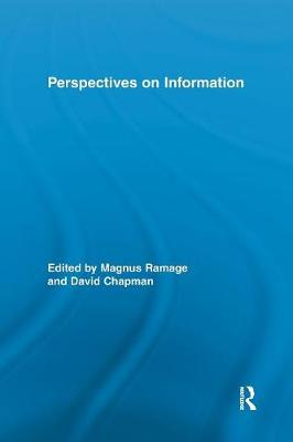 Perspectives on Information - Routledge Studies in Library and Information Science (Paperback)