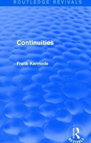 Continuities - Routledge Revivals (Hardback)