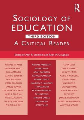 Sociology of Education: A Critical Reader (Paperback)