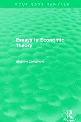 Essays in Economic Theory - Routledge Revivals (Paperback)