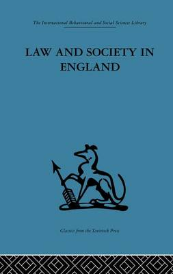 Law and Society in England (Paperback)