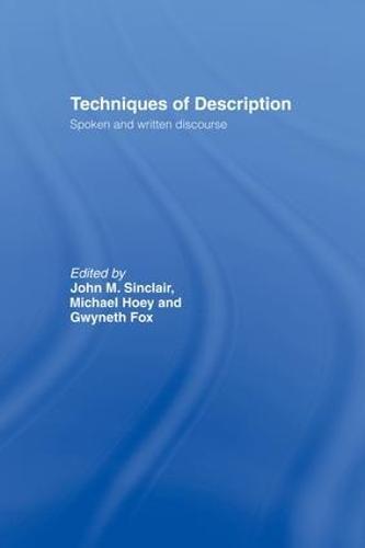 Techniques of Description: Spoken and Written Discourse (Paperback)