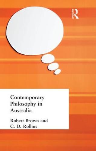 Contemporary Philosophy in Australia (Paperback)