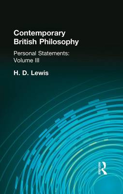Contemporary British Philosophy: Personal Statements    Third Series (Paperback)