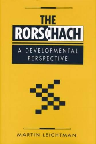 The Rorschach: A Developmental Perspective (Paperback)