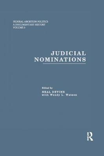 Judicial Nominations (Paperback)