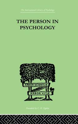The Person In Psychology: REALITY OR ABSTRACTION (Paperback)