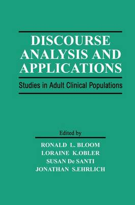 Discourse Analysis and Applications: Studies in Adult Clinical Populations (Paperback)
