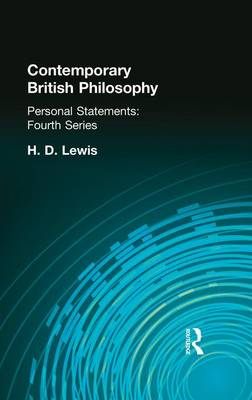 Contemporary British Philosophy: Personal Statements   Fourth Series (Paperback)