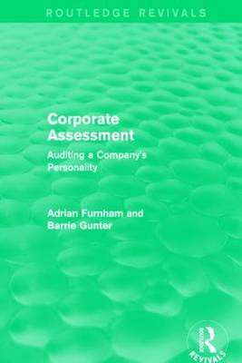 Corporate Assessment: Auditing a Company's Personality - Routledge Revivals (Hardback)
