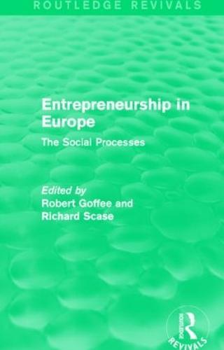 Entrepreneurship in Europe: The Social Processes (Paperback)