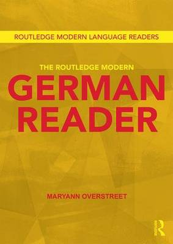 The Routledge Modern German Reader (Paperback)