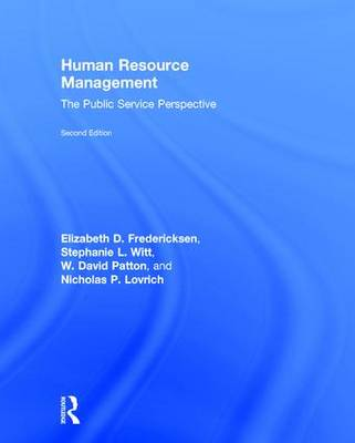 Human Resource Management: The Public Service Perspective (Hardback)