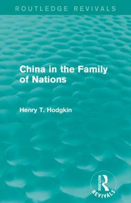 China in the Family of Nations (Paperback)