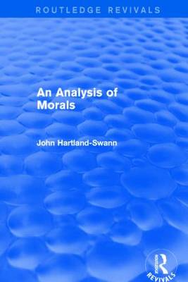 An Analysis of Morals - Routledge Revivals (Paperback)