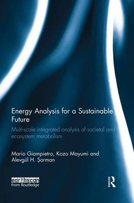 Energy Analysis for a Sustainable Future: Multi-Scale Integrated Analysis of Societal and Ecosystem Metabolism (Paperback)