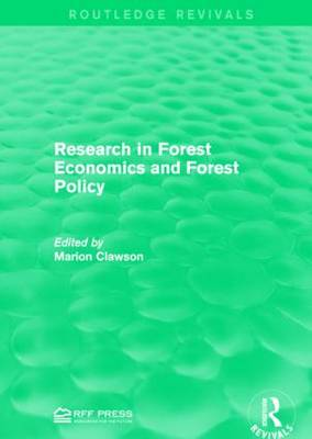 Research in Forest Economics and Forest Policy - Routledge Revivals (Paperback)