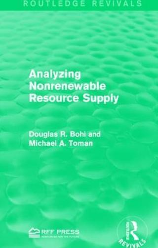 Analyzing Nonrenewable Resource Supply (Paperback)