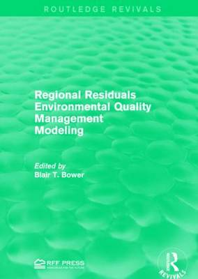 Regional Residuals Environmental Quality Management Modeling (Paperback)