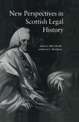 New Perspectives in Scottish Legal History: New Per Scot Legal His (Paperback)