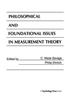 Philosophical and Foundational Issues in Measurement Theory (Paperback)
