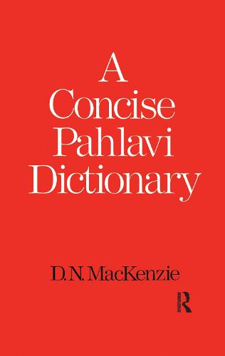 A Concise Pahlavi Dictionary (Paperback)