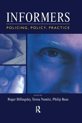 Informers: Policing, policy, practice (Paperback)