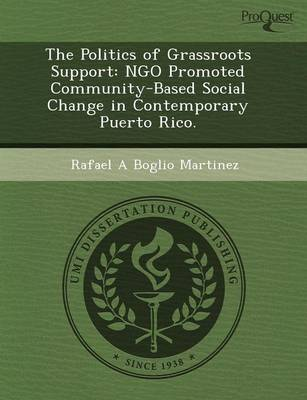 The Politics of Grassroots Support: Ngo Promoted Community-Based Social Change in Contemporary Puerto Rico (Paperback)