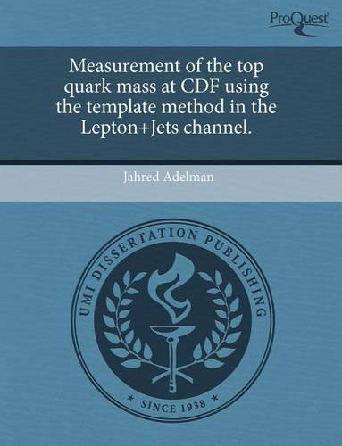 Measurement of the Top Quark Mass at Cdf Using the Template Method in the Lepton+jets Channel. (Paperback)