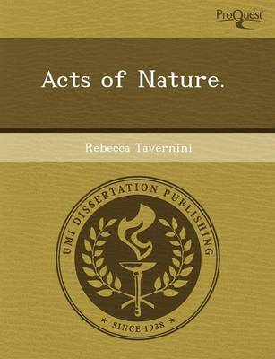 Acts of Nature (Paperback)