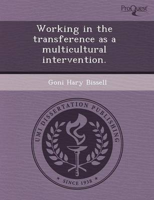 Working in the Transference as a Multicultural Intervention (Paperback)