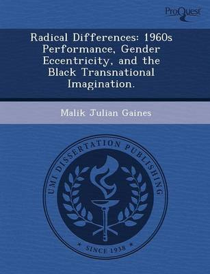 Radical Differences: 1960s Performance (Paperback)