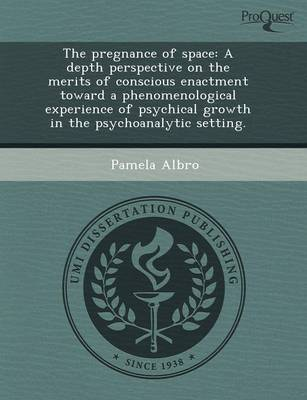 The Pregnance of Space: A Depth Perspective on the Merits of Conscious Enactment Toward a Phenomenological Experience of Psychical Growth in T (Paperback)