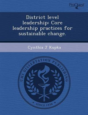 District Level Leadership: Core Leadership Practices for Sustainable Change (Paperback)