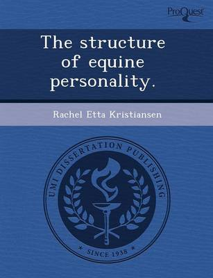 The Structure of Equine Personality (Paperback)