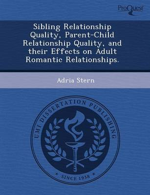 Sibling Relationship Quality (Paperback)