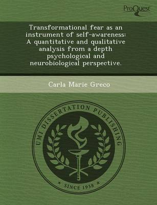 Transformational Fear as an Instrument of Self-Awareness: A Quantitative and Qualitative Analysis from a Depth Psychological and Neurobiological Persp (Paperback)