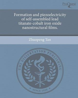 Formation and Piezoelectricity of Self-Assembled Lead Titanate-Cobalt Iron Oxide Nanostructural Films (Paperback)