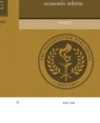 Three Essays on China's Economic Reform (Paperback)