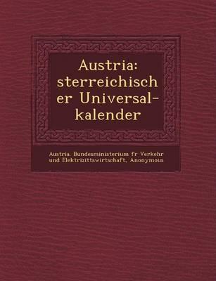 Austria: Sterreichischer Universal-Kalender (Paperback)